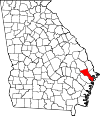 Map of Georgia highlighting Bryan County.svg
