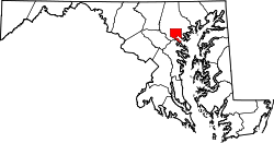 Map of Maryland highlighting Baltimore City.svg