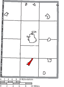 Location of Camden in Preble County
