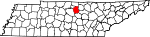 State map highlighting Smith County