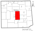 Map of Tioga County Pennsylvania Highlighting Charleston Township.PNG