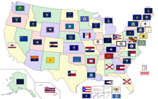Flags of the U.S. states and territories Wikimedia list article