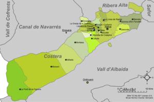 Costera - Municipalities of Costera