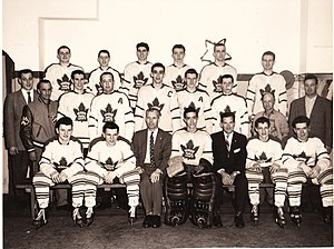 Verdun Maple Leafs (ice hockey) - Image: Maple Leafs Verdun 1957 58