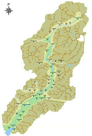Val Camonica - Image: Mappa fisica della Valle Camonica (Luca Giarelli)