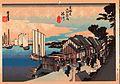 Mar.2010 calendar hiroshige -- shinagawa hinode.jpg