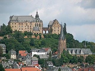 Marburger Schloss castle in Marburg, Hesse, Germany