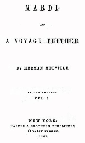Mardi - First edition title page