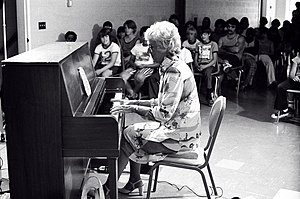 Marian McPartland - McPartland playing at St. Joseph's Villa near Rochester, New York in 1975