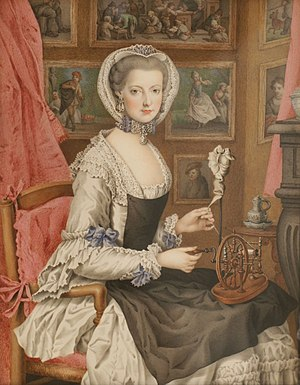 Maria Christina, Duchess of Teschen - Self-portrait after an engraving of Johann Casper Heilmann, ca. 1765.