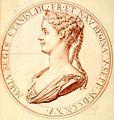 Marie Leczinska (1703-1768) médailles françaises dont les coins sont conservés au Musée monétaire - Paris 1725.jpg