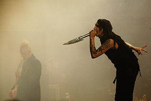 "Eat Me, Drink Me - Marilyn Manson performing ""The Nobodies"" during the Rape of the World Tour, June 2007"