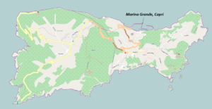 Marina Grande, Capri - Map showing location