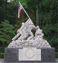 Marine Memorial at the front gate of MCB Quantico
