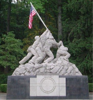 Quantico, Virginia - Memorial at Marine Corps Base Quantico