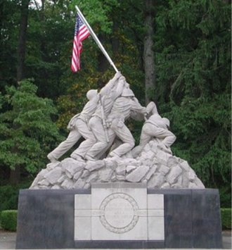 Marine Corps Base Quantico - Marine Corps Memorial at the front gate of MCB Quantico.