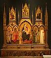Mariotto di nardo, madonna col bambino e santi, vita dei santi e di cristo (polittico serristori), 1424, da s. francesco a figline valdarno.jpg