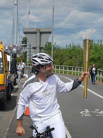 Mark Beaumont (cyclist) - Beaumont carrying the Olympic torch