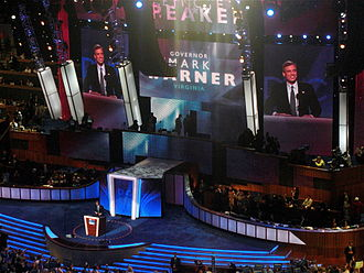 Mark Warner - Warner delivers the keynote address during the second day of the 2008 Democratic National Convention in Denver, Colorado.