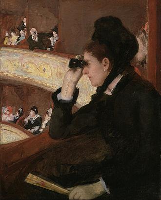 In the Loge - Image: Mary Stevenson Cassatt In the Loge Google Art Project