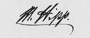 Matthäus Hipp - Unterschrift