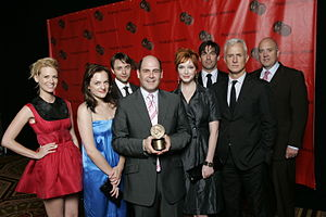 Mad Men - Matthew Weiner and the cast of Mad Men at the 67th Annual Peabody Awards