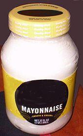A jar of mayonnaise