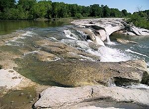 McKinney Falls State Park - The upper falls.