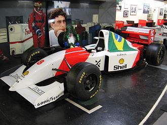 Donington Grand Prix Collection - Ayrton Senna's MP4/8 from Donington GP '93 .