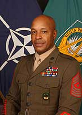 Alford L. McMichael - McMichael as Senior Noncommissioned Officer of Allied Command Operations