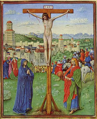 Turin-Milan Hours - Miniature of the crucifixion by Hand H, Turin