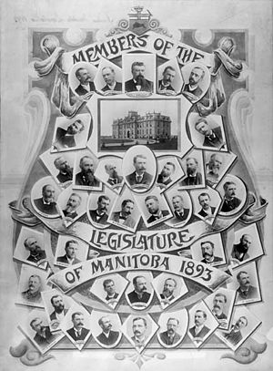 Manitoba general election, 1892 - Members of the Legislature of the Province of Manitoba, 1893