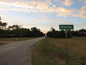 Mentz, Texas - Image: Mentz TX Sign