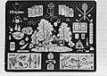 Merklap geborduurd door Koning Ingrid van Denemaken met vermoedelijk als onderwe, Bestanddeelnr 252-9269.jpg