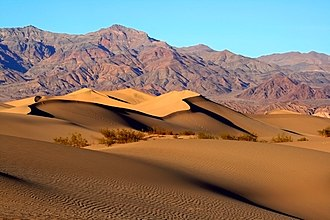 Eastern California - Mesquite Sand Dunes in Death Valley