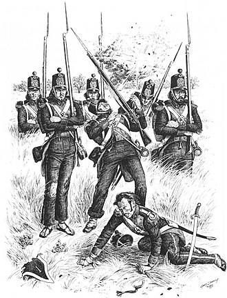 Battle of Palo Alto - Mexican infantry under US artillery fire