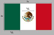 Construcción oficial de la bandera.