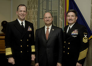 Donald C. Winter - Donald Winter with then-CNO Admiral Michael Mullen and then-MCPON Terry D. Scott