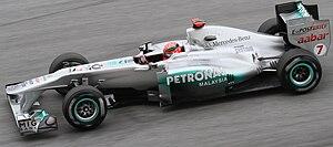 Mercedes-Benz in Formula One - Michael Schumacher at the 2011 Malaysian Grand Prix