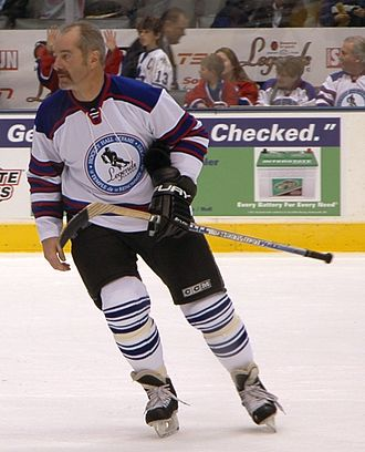 Michel Goulet - Goulet playing in the 2008 Legends Classic in Toronto.