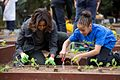 Michelle Obama joins FoodCorps leaders and local students for the spring planting, 2015.jpg