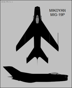 Mikoyan-Gurevich MiG-19P two-view silhouettes.png