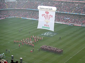 Millennium Stadium - The pre-match entertainment before the Wales and Scotland match in the 2008 Six Nations Championship