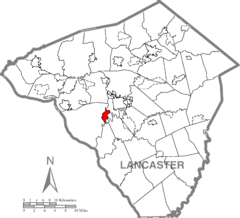 Millersville, Lancaster County Highlighted.png