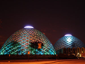 Mitchell Park Horticultural Conservatory - The domes at night