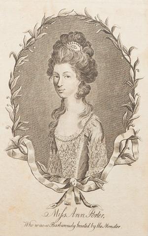 London Monster - A 1790 engraving of Anne Porter