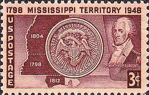 Territories of the United States on stamps - Mississippi Territory 1948 issue