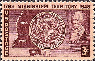 Winthrop Sargent - Image: Mississippi Territory 1948 Issue 3c