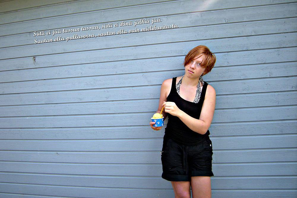 Mä söin jätskiä kesällä 2011 Hangossa