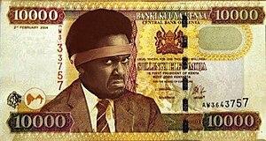 Makmende - Makmende's portrait on a fictional 10,000 shillings Kenyan note